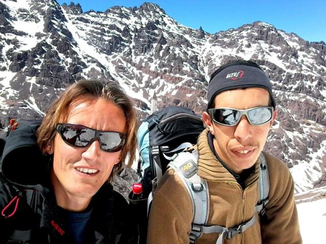 Zdjęcia: Góry Atlas, Góry Atlas, Zdobyty najwyższy szczyt Afryki Północnej Jebel Toubkal (4167m) 1, MAROKO