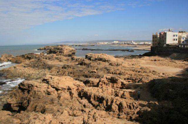 Zdj�cia: Es-Sawira, wybrze�e Maroka, Widok z fortecy w Es-Sawirze, MAROKO
