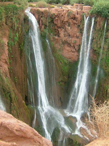 Zdjęcia: góry, Atlas Średni, wodospadzik, MAROKO