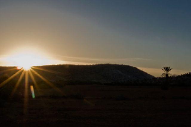 Zdjęcia: Jakieś 80 km od Agadiru, Susaria, Wschód słońca na pustyni, MAROKO