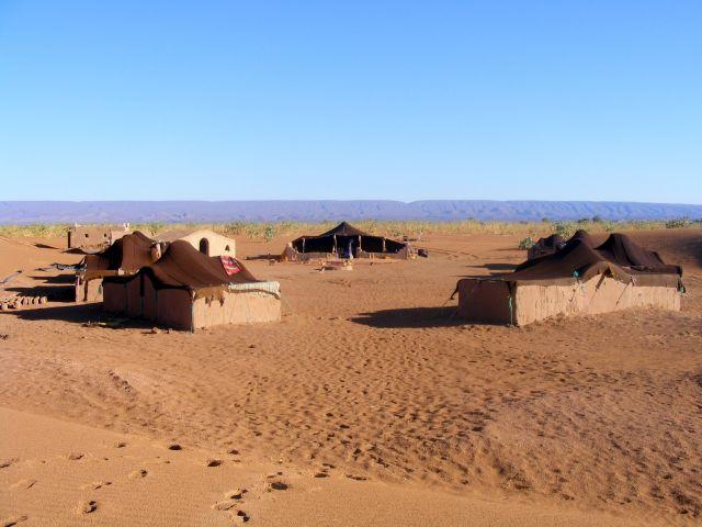 Zdjęcia: pustynia, Mhamid, wioska beduińska, MAROKO