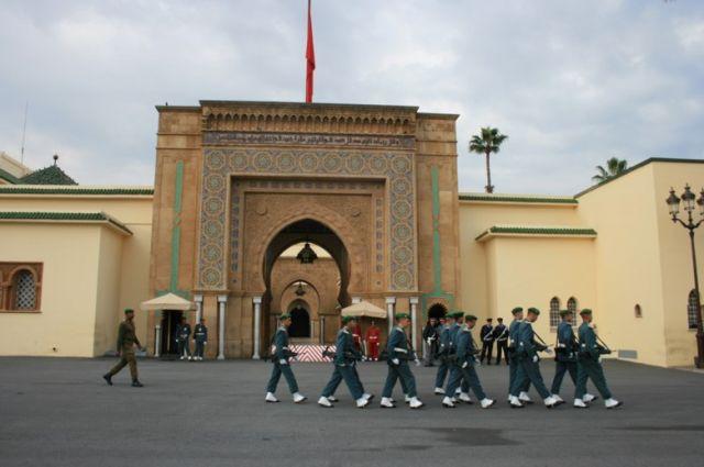 Zdjęcia: Rabat, wybrzeże Maroka, Pałac Królewski w Rabacie, MAROKO