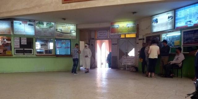 Zdjęcia: Dworzec autobusowy, Warzazat-Środkowo-południowe Maroko, Autobusem w Ramadanie1, MAROKO