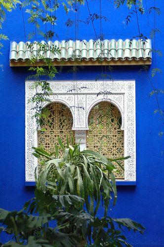 Zdjęcia: Marrakesz, Jardin Majorelle, YSL, Marrakesz, Jardin Majorelle, detal architektury, MAROKO