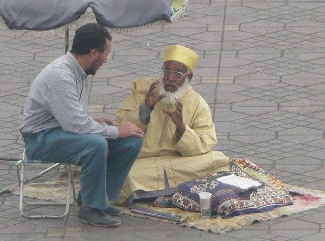 Zdjęcia: Jemaa el-Fna, Marrakesz, Wróżbita, MAROKO