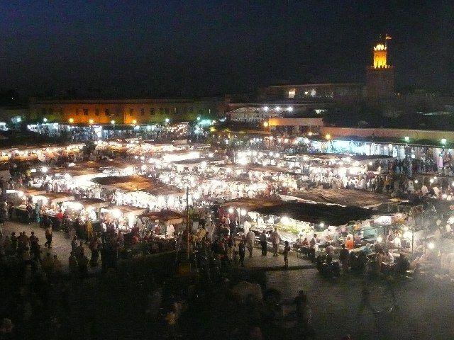 Zdjęcia: Jemaa el-Fna, Marrakesz, Jemaa el-Fna nocą, MAROKO