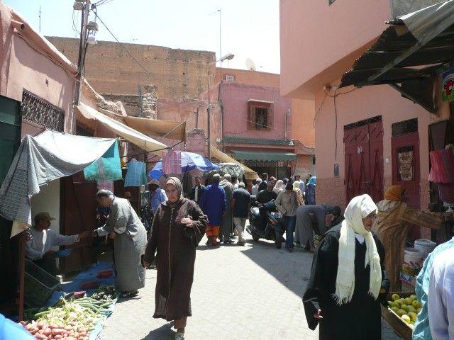 Zdjęcia: Marrakesz, Uliczka w Medinie, MAROKO