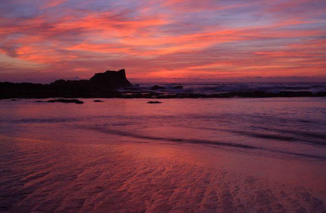Zdjęcia: Oualidia , Oualidia o zachodzie słońca, MAROKO