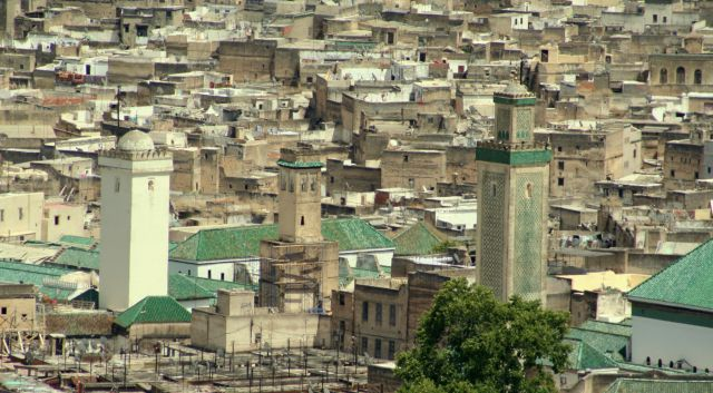 Zdj�cia: fez, panorama Fezu, MAROKO