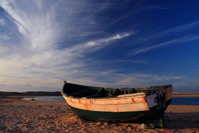 Zdjęcia: Oualidia , Oualidia , A rano znów na ryby ..., MAROKO