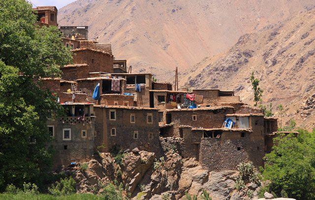 Zdjęcia: Berberyjska wieś Tinerhourhine, JBEL TOUBKAL - Góry Atlas Wysoki , Z wizytą w Tinerhourhine, MAROKO