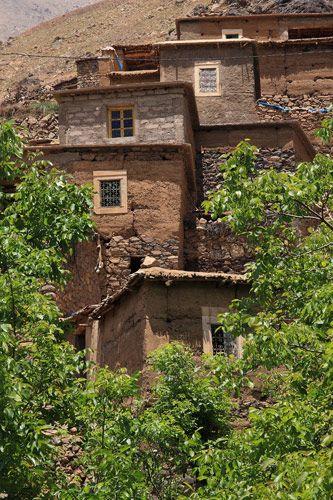 Zdjęcia: Berberyjska wieś Tinerhourhine, JBEL TOUBKAL - Góry Atlas Wysoki , Z wizytą w Tinerhourhine 3, MAROKO