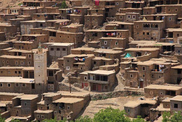 Zdjęcia: Berberyjska wieś Ikkiss, JBEL TOUBKAL - Góry Atlas Wysoki , Wieś Ikkiss, MAROKO