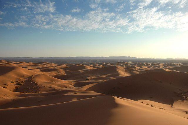 Zdjęcia: Merzuga, południe, widok z najwyższej wydmy :), MAROKO