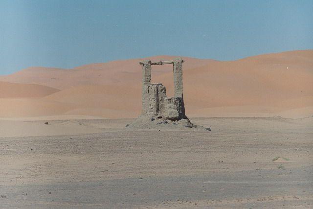 Zdjęcia: pustynia, prawie sahara, studnia, MAROKO