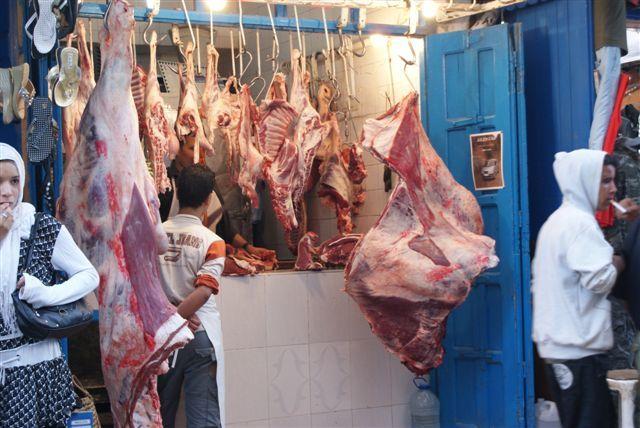 Zdjęcia: As Sawira, sklep mięsny, MAROKO