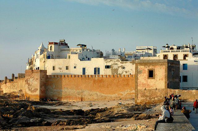 Zdjęcia: Essauira, nad oceanem, mury Essauiry- zachód słońca, MAROKO