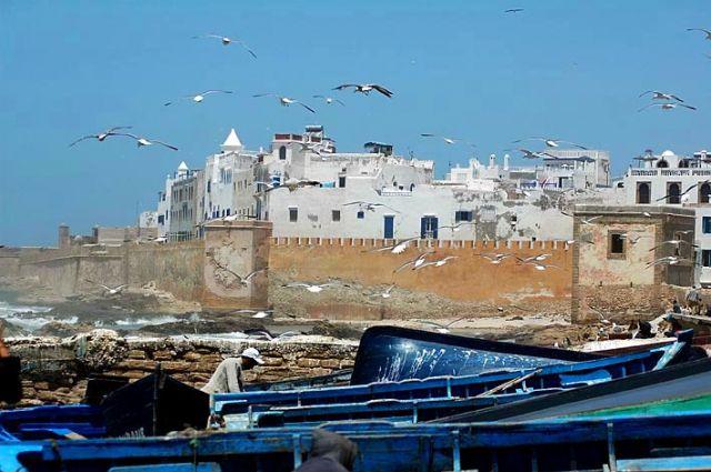 Zdjęcia: Essauira, nad Oceanem, mury Essauiry, MAROKO
