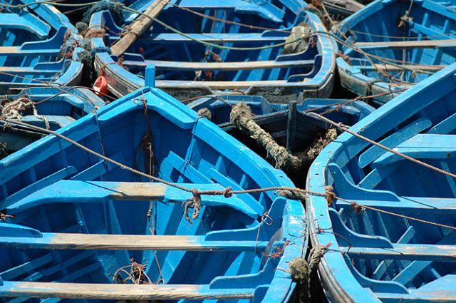 Zdjęcia: Essauira, nad Oceanem, łódki, MAROKO