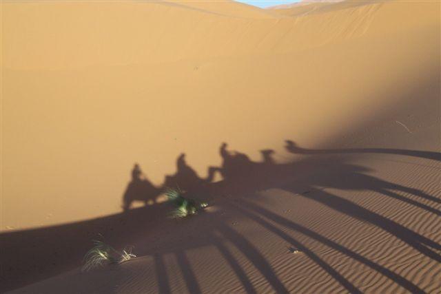 Zdjęcia: Erg Chebbi, Merzouga, Cienie, MAROKO