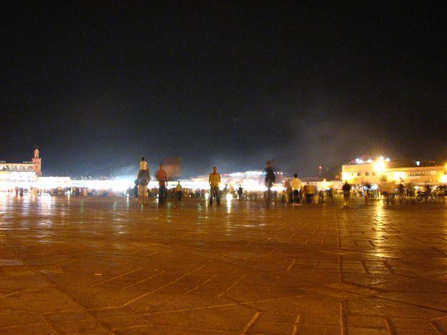 Zdjęcia: Marakesz, Dżemaa el-Fna nocą, MAROKO