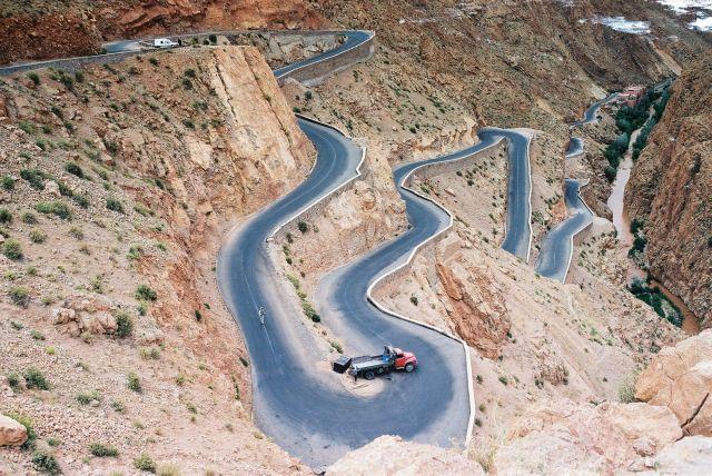 Zdjęcia: w drodze, atlas, Serpentyny, MAROKO
