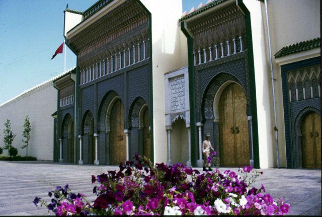 Zdjęcia: Fez, centrum, inny widok na pałac królewski, MAROKO