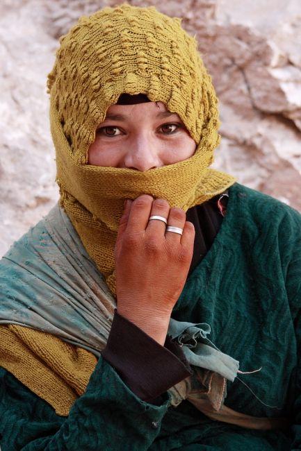 Zdjęcia: dolina Dades, południowe Maroko, berberwoman, MAROKO