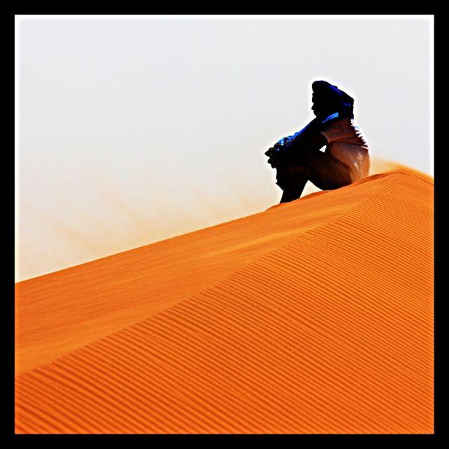 Zdjęcia: Pustynia koło Merzugi, Maroko południowo-wschodnie, Pustynia, MAROKO