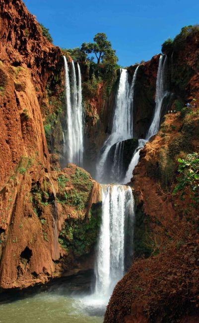 Zdjęcia: Atlas Wysoki, Wodospady Ouzoud, MAROKO