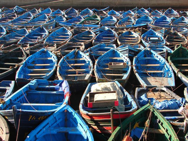 Zdjęcia: Essaouria, Port, MAROKO