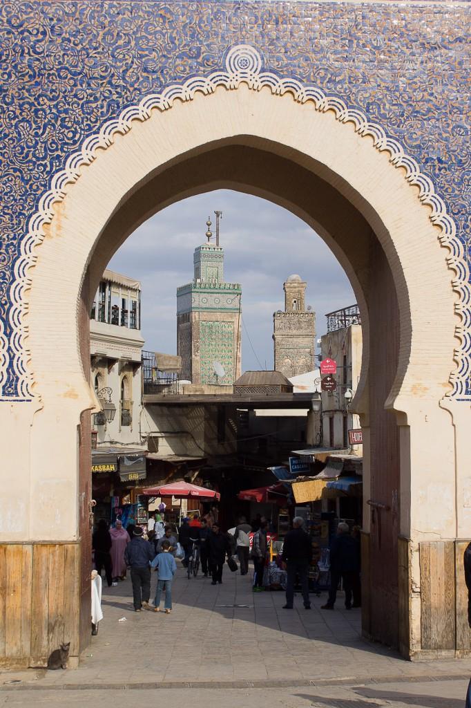 Zdjęcia: Fes, Fes, Bab Bou Jeloud, MAROKO