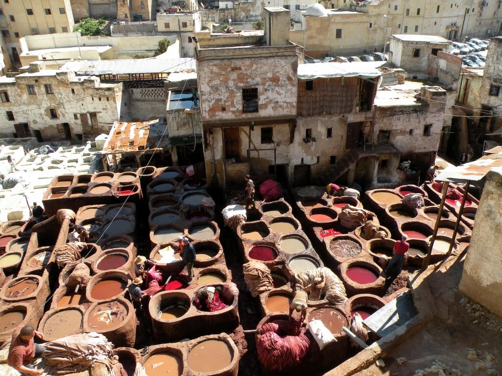 Zdjęcia: souk, Fez, Garbarnie, MAROKO