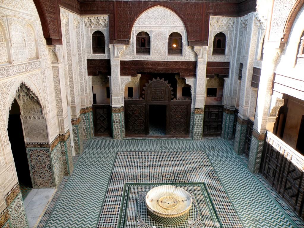 Zdjęcia: Meknes, północne  Maroko, Szkoła koraniczna, MAROKO