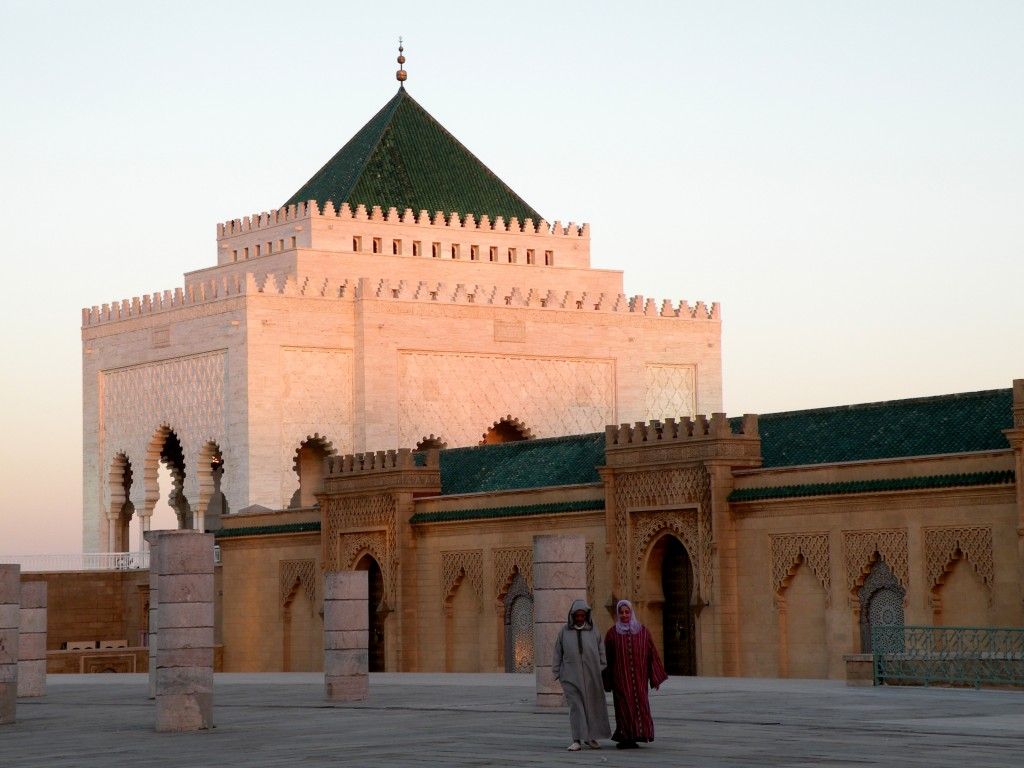 Zdjęcia: Rabat, zachodnie Maroko, Mauzoleum Muhammada V, MAROKO