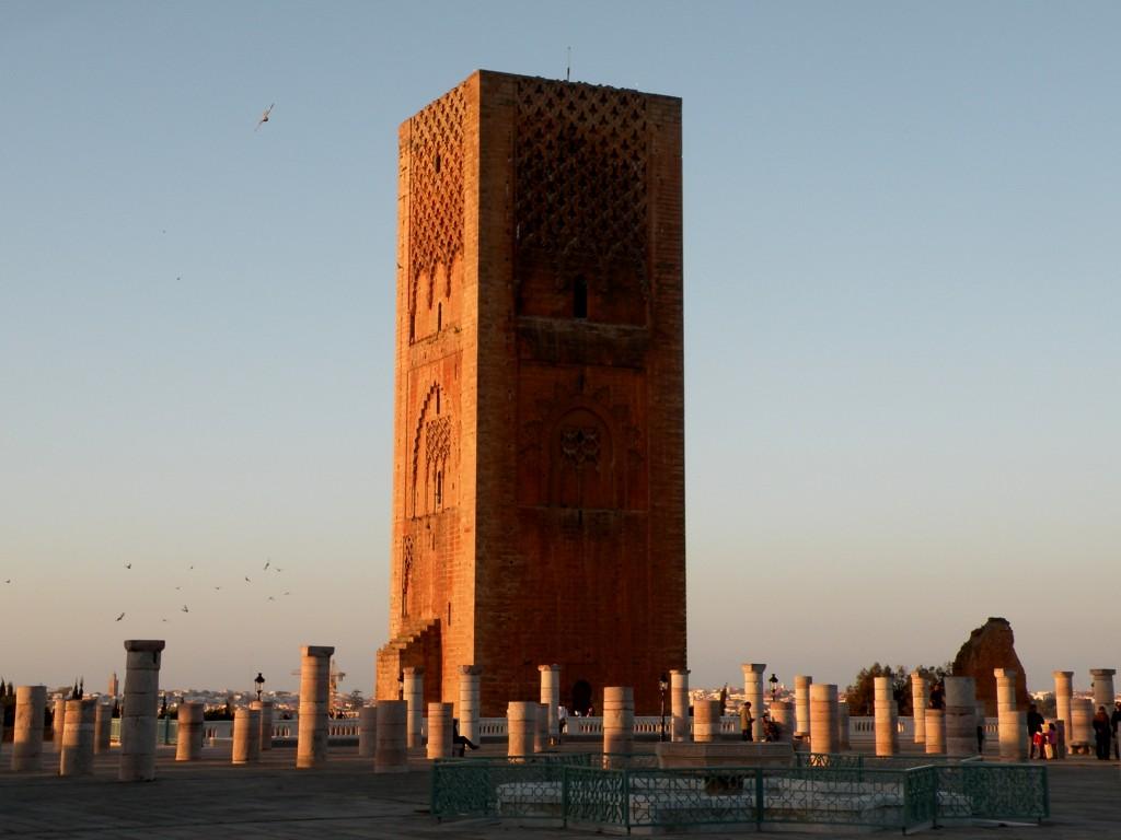 Zdjęcia: Rabat, zachodnie Maroko, Wieża Hassana, MAROKO