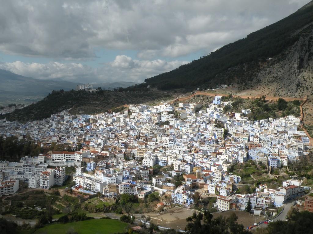 Zdjęcia: Szefszawan, płn Maroko, Miasteczko w górach, MAROKO