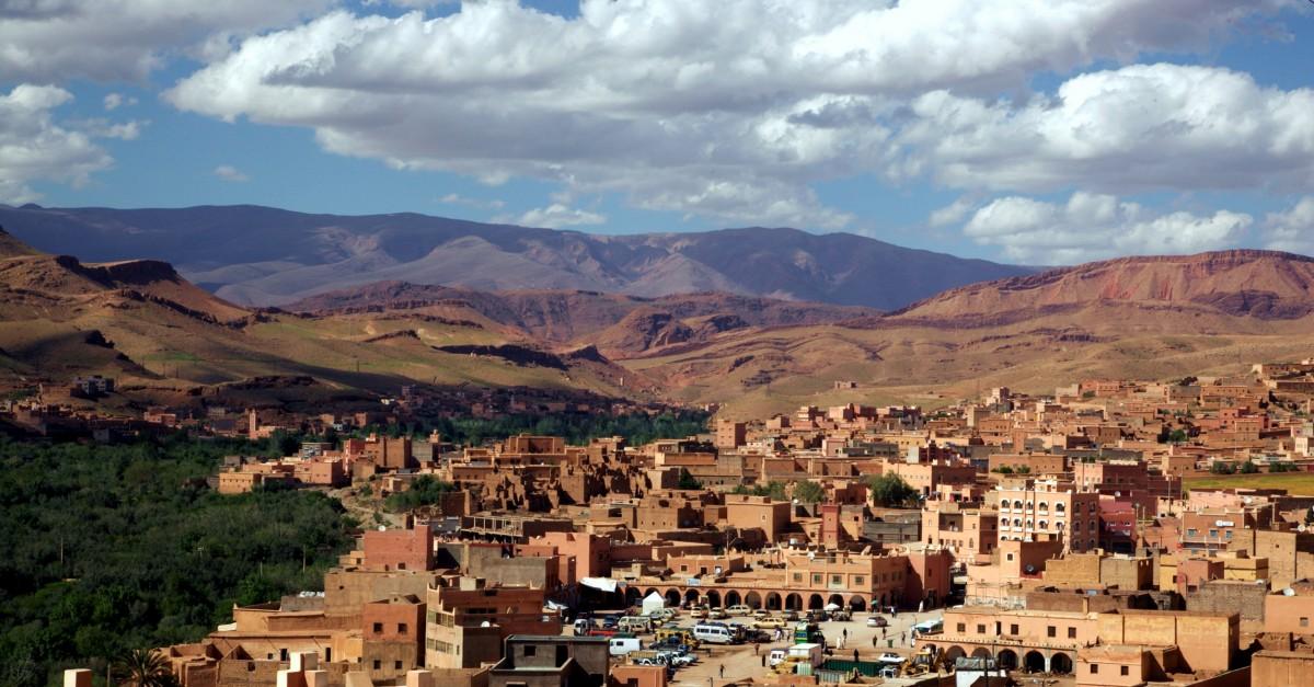 Zdjęcia: El Klaa, Ouarzazate, Panorama, MAROKO