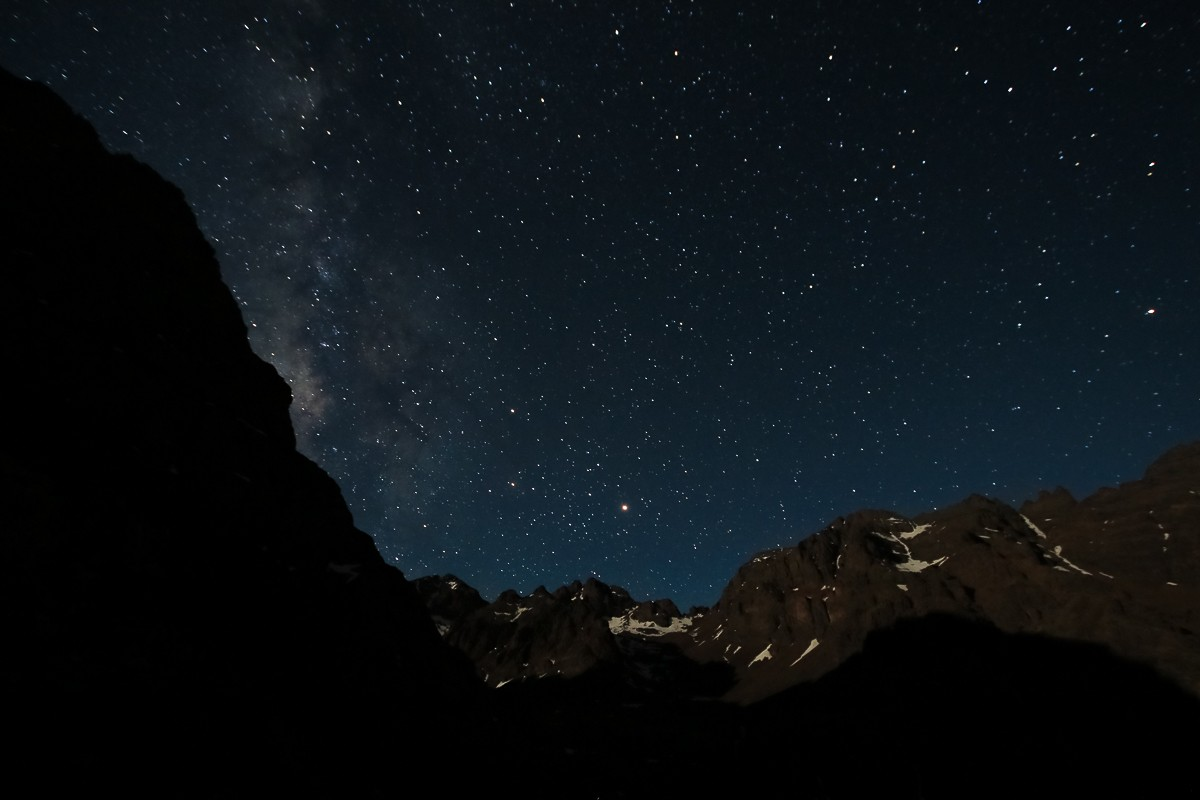 Zdjęcia: Góry Atlas, Góry Atlas, Nocne niebo w górach Atlas, MAROKO