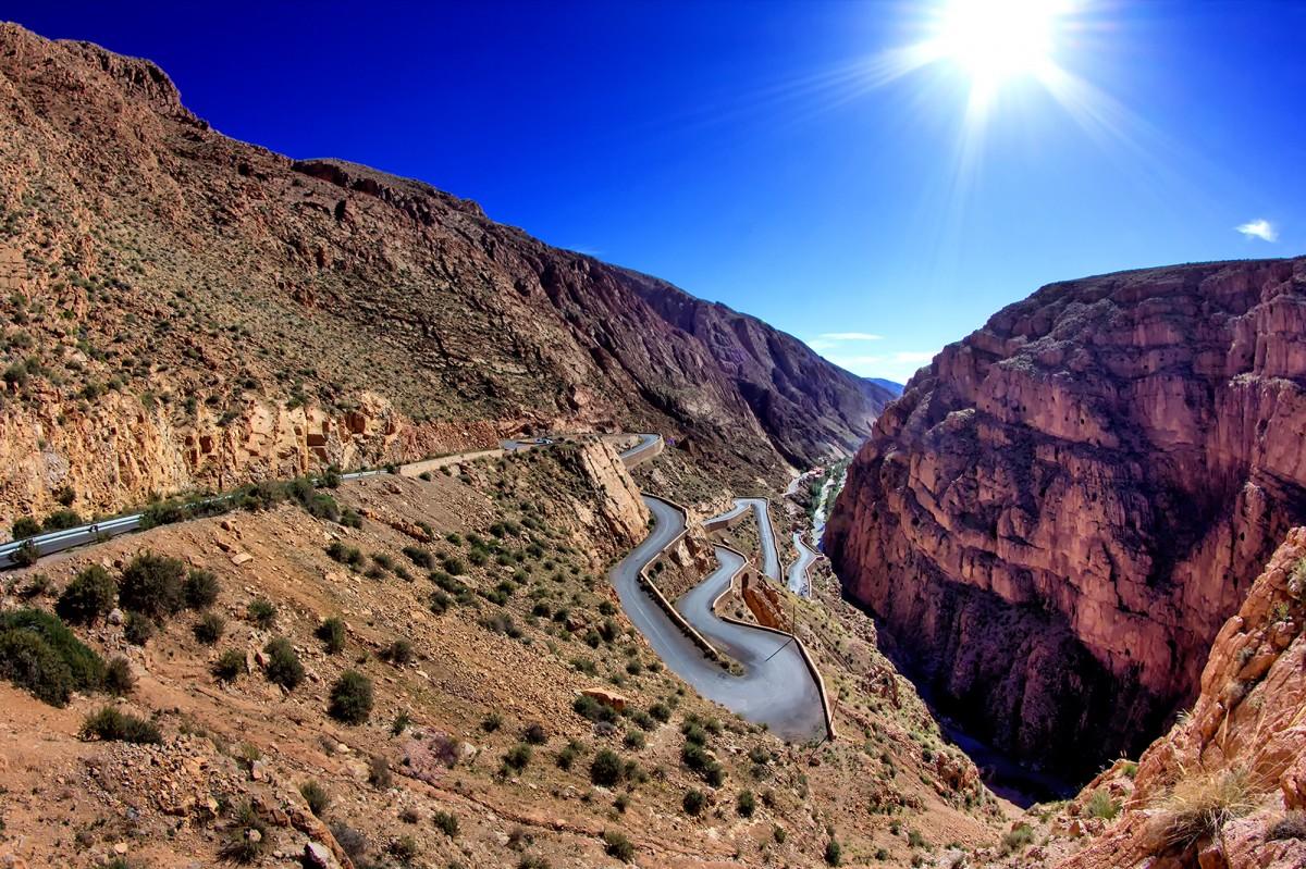 Zdjęcia: wąwóz Dades, Atlas Wysoki, droga do..., MAROKO