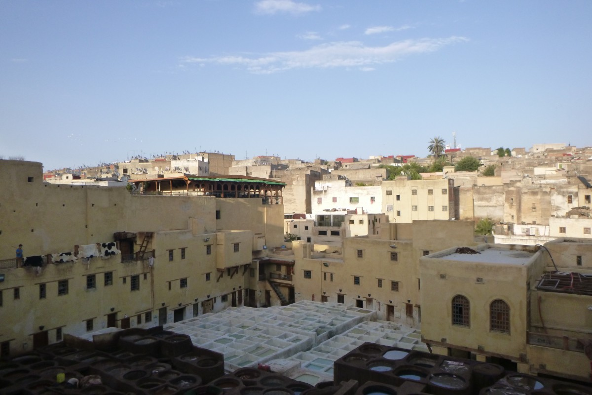 Zdjęcia: Fez, Fez, Garbarnia w Fez, MAROKO