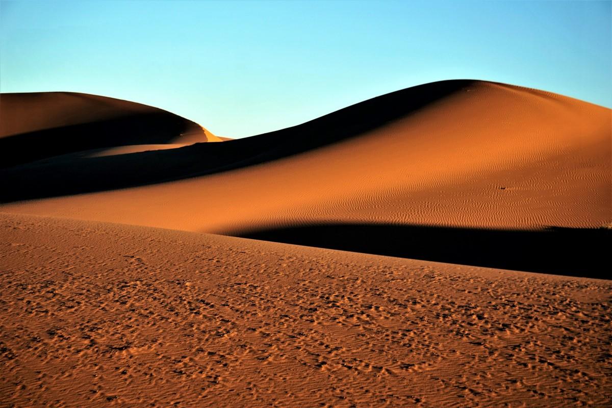 Zdjęcia: Merzouga, Sahara Erg Chebbi, Pustynia o świcie, MAROKO