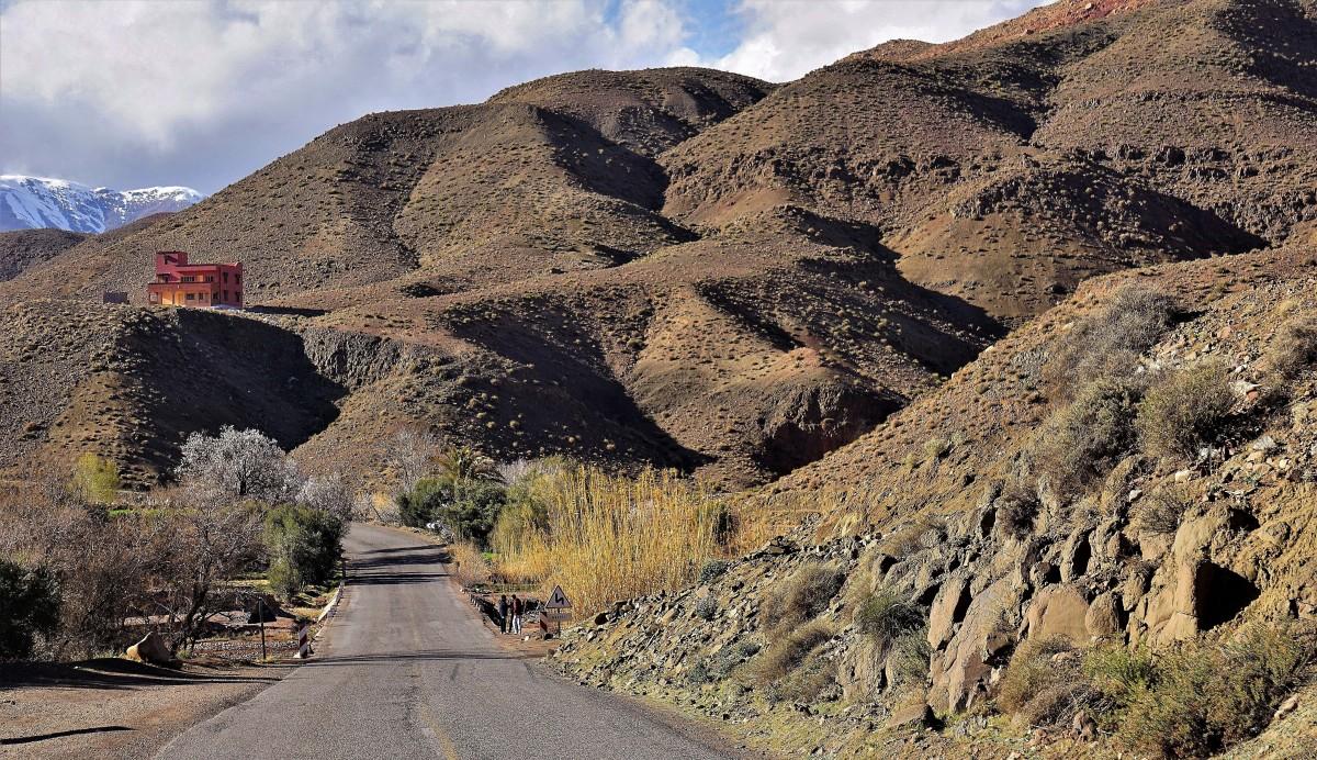 Zdjęcia: po południowej stronie Tizi n'Tichka , Atlas Wysoki, Atlas Wysoki, MAROKO