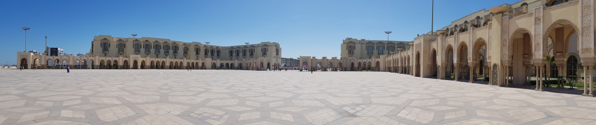 Zdjęcia: Plac modlitewny przed meczetem Hassana II w Casablance, Północne Maroko, Dziedziniec modlitewny , MAROKO