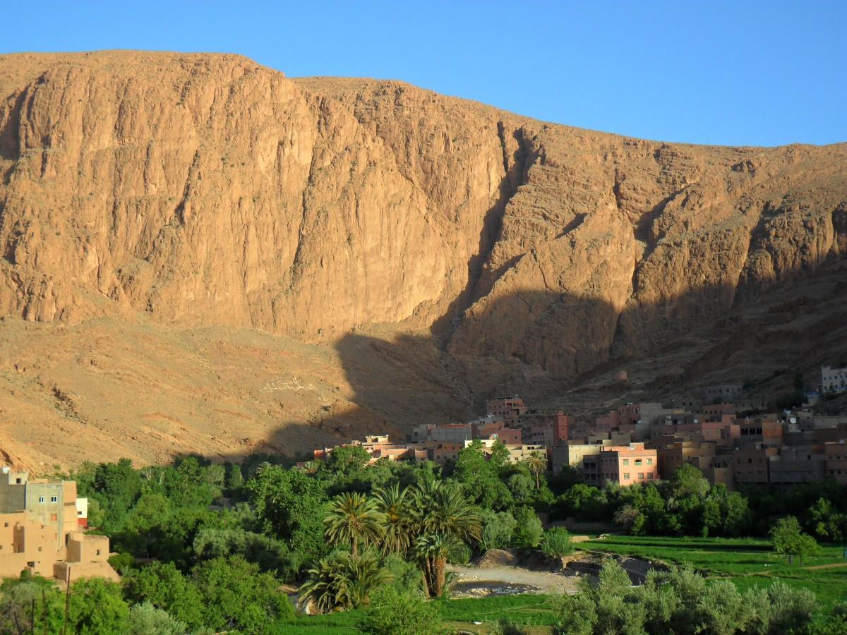 Zdjęcia: Dar Aicha, Tinghir, Widok z Dar Aicha, MAROKO