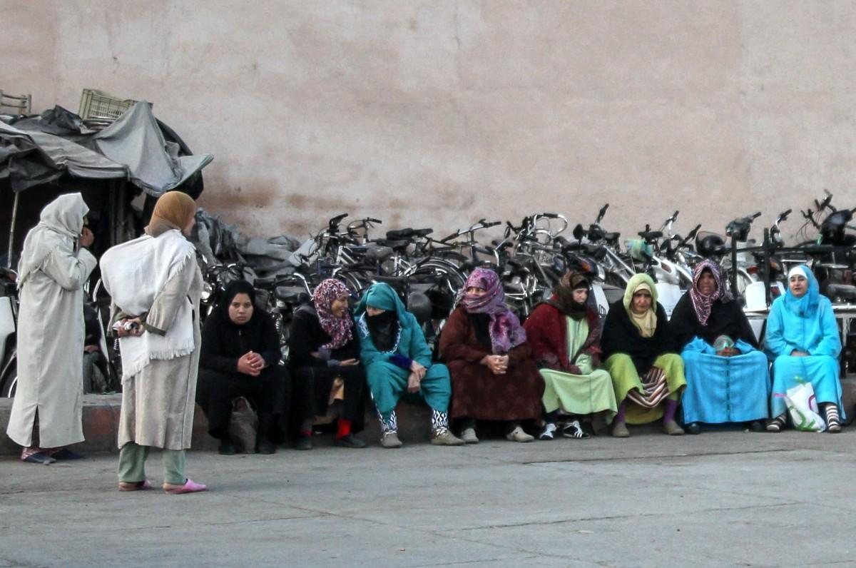 Zdjęcia: Marrakesz, Marrakesz-Safi, ...a za czym kolejka ta siedzi?, MAROKO
