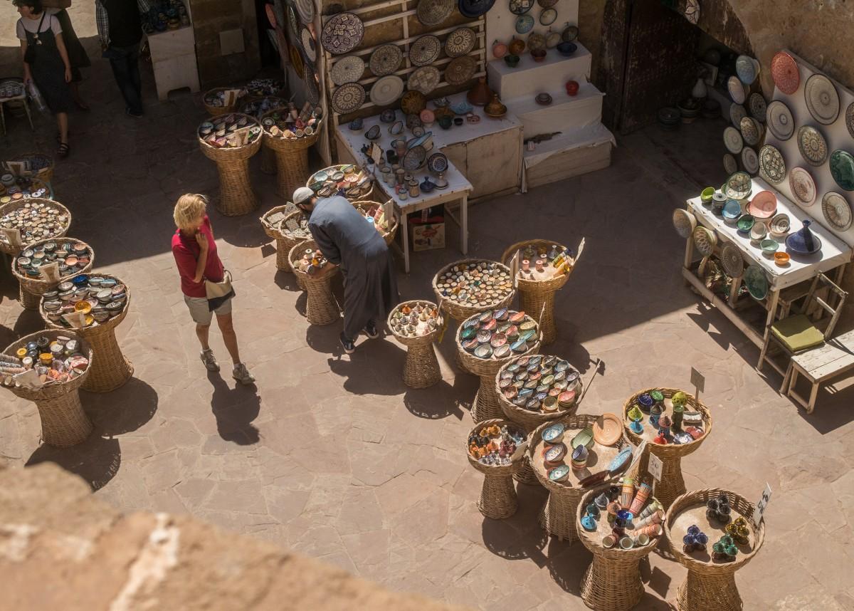 Zdjęcia: Essaouira, Marrakesz-Safi, arabski bazar - bezpieczna odległość, MAROKO