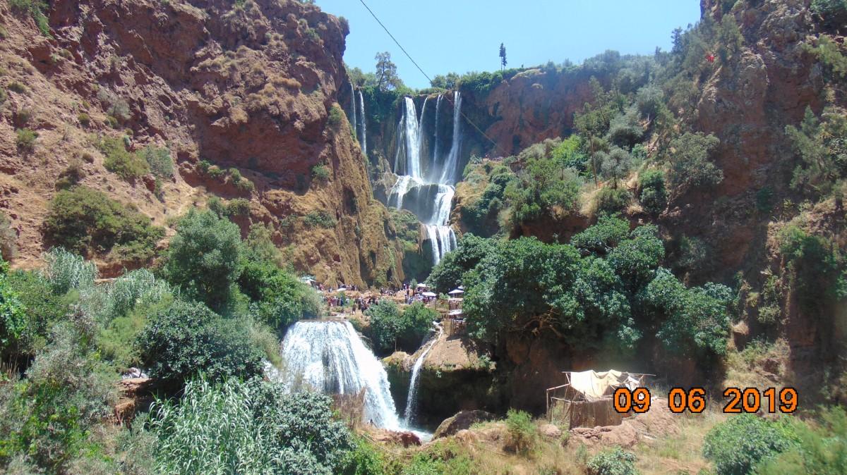 Zdjęcia: Wodospady Ouzoud, Srodkowe Maroko, Piekno rzadko spotykane, MAROKO