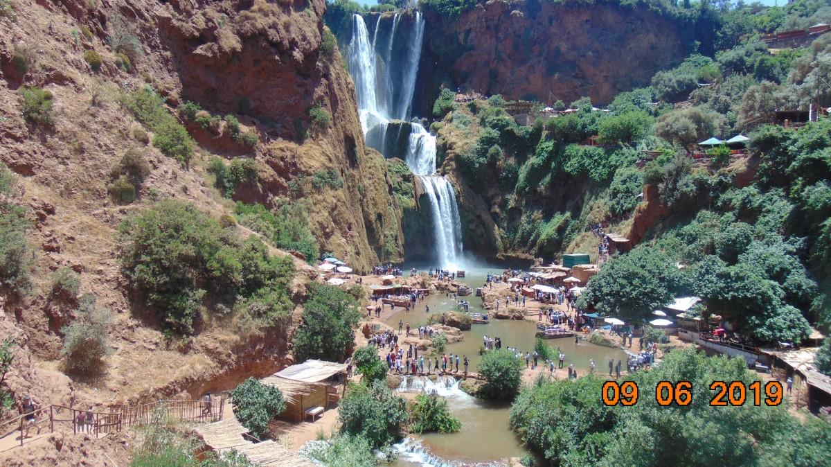 Zdjęcia: Wodospady Ouzoud, Na wschod od Marakkechu, Rzadko spotykane piekno, MAROKO