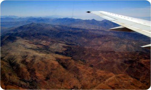 MAROKO / - / Góry Atlas / Góry Atlas z samolotu